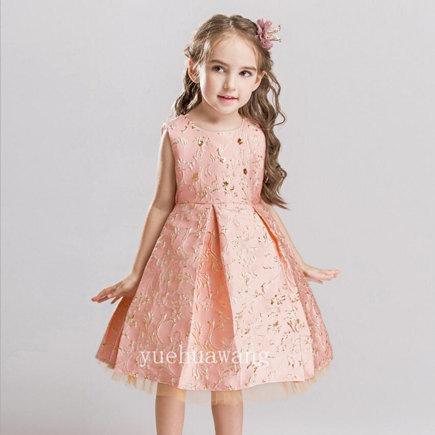 2018 Spring Short Dress Little Girls Pageant Interview Suits Pink ...