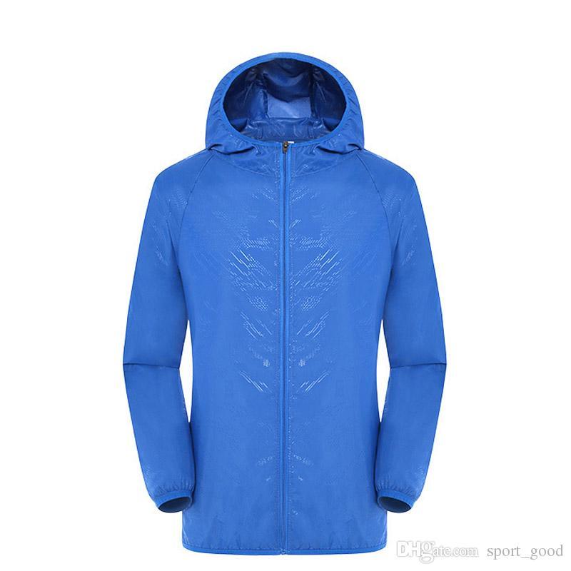 Giacca da trekking Quick Dry da uomo Giacca da sole antipioggia Impermeabile Cappotto anti-UV Outdoor Sport Skin Jacket Giacche antipioggia