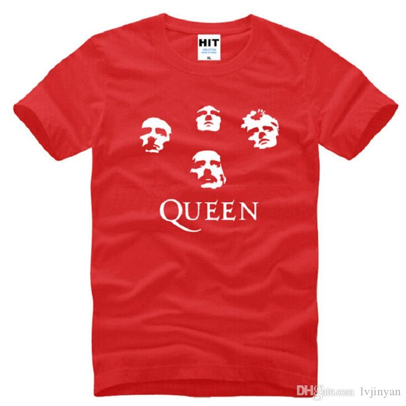 New Summer Style Classic Rock Band Queen T Shirts Men Cotton Short Sleeve Printed Men's T-Shirt Fashion Male Heavy Rock T Shirts