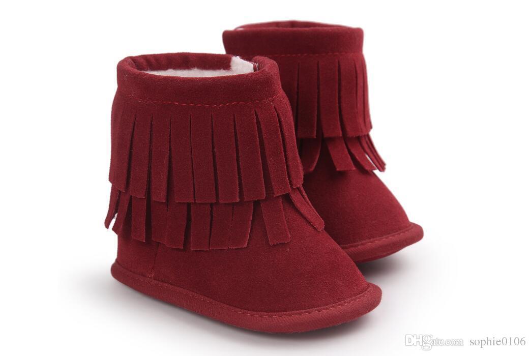 Girl Boy Winter boots Scarponi da bambino primi camminatori Scarponi da neve invernali da bambino Scarponi da bambino primi camminatori Scarpine con suola morbida bambini Scarponcini bambini primi camminatori