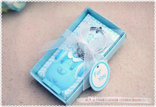 Bébé douche faveurs et cadeau mignon bébé fille robe design rose porte-clés baptême infantile souvenir cadeau + livraison gratuite