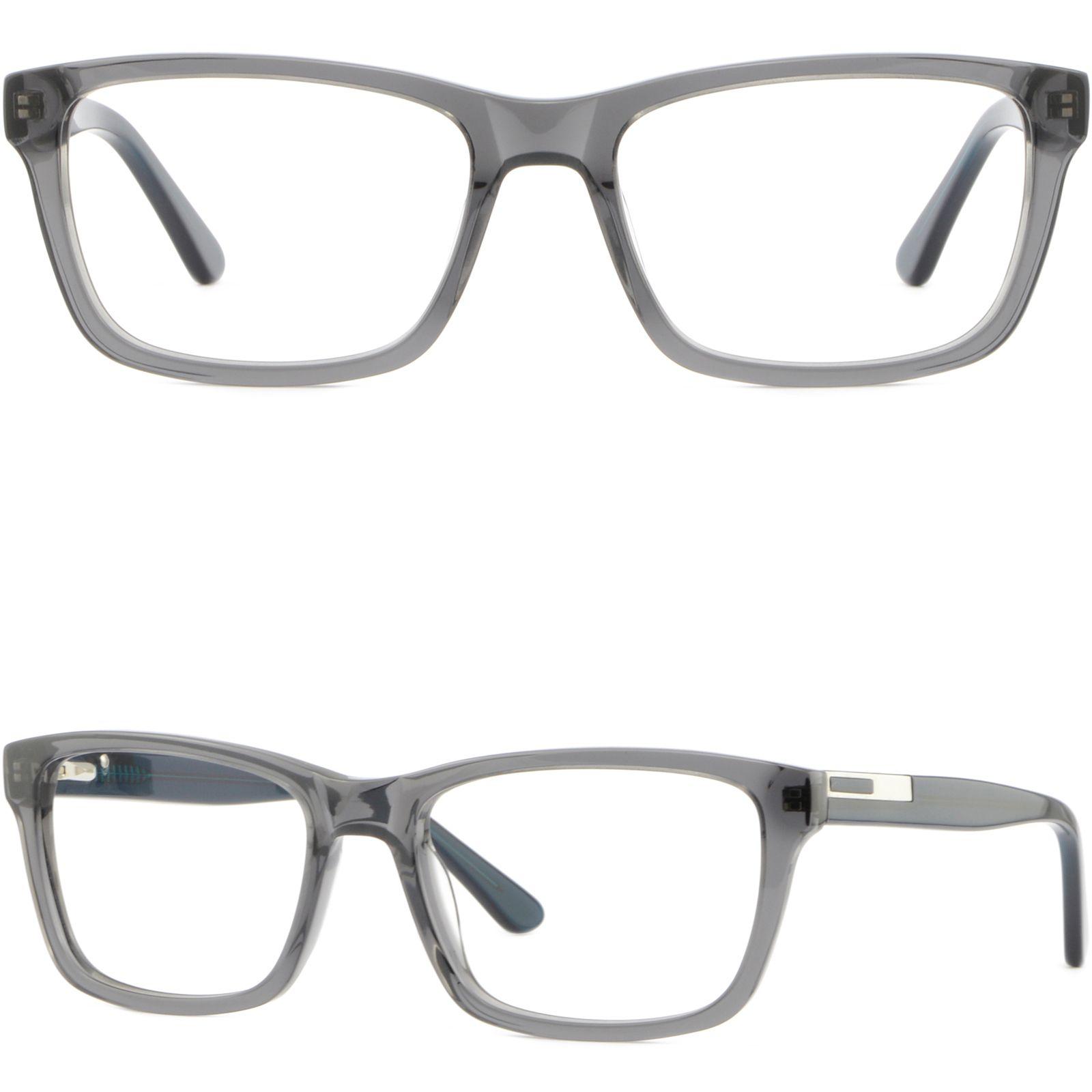 501b9ff4ef7e2 Gray Grey Mens Womens Plastic Frame Spring Hinges Rectangle Prescription  Glasses Designer Glasses Frames Eyeglass Frames For Women From Aceglasses