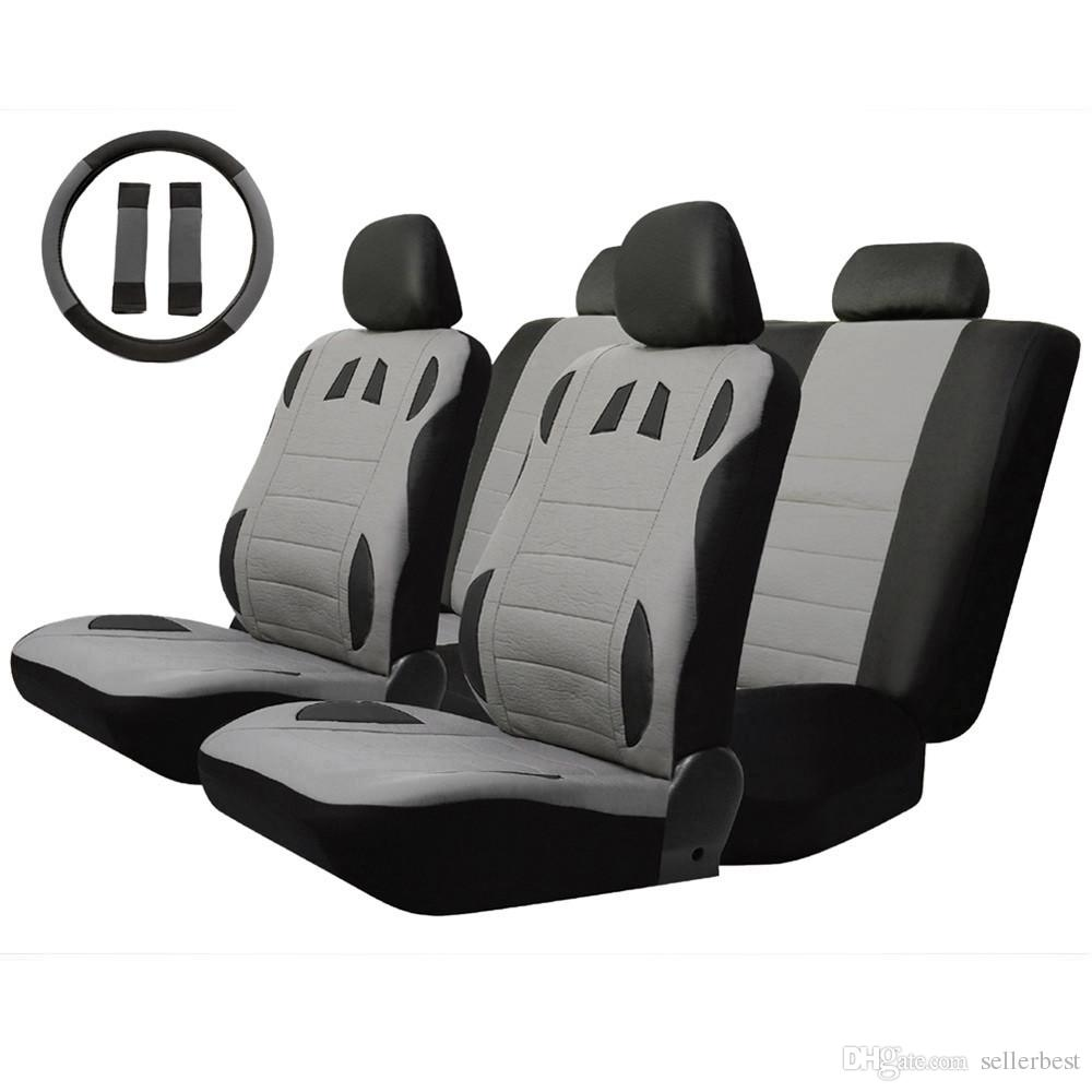 Breathable To Keep Cool Universal Car Seat Cover Set Four Seasons Auto Cushion Interior Accessories Steering Wheel Wrap Cheap Covers For Babies