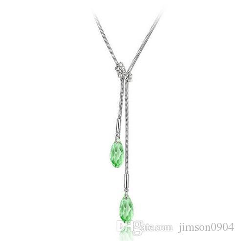 2017 nuevo Un collar de cristal genuino con SWAROVSKI Elements - Rouqingsishui Cadena colgante de clavícula de alta gama