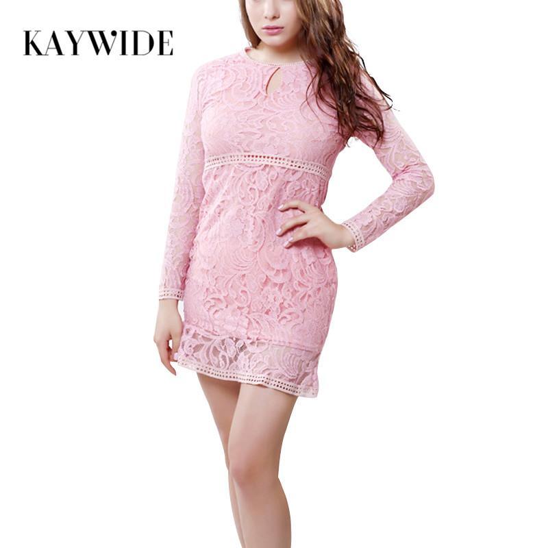 Compre Kaywide Moda Otoño Patchwork Mujeres Vestido Lindo De Manga ...