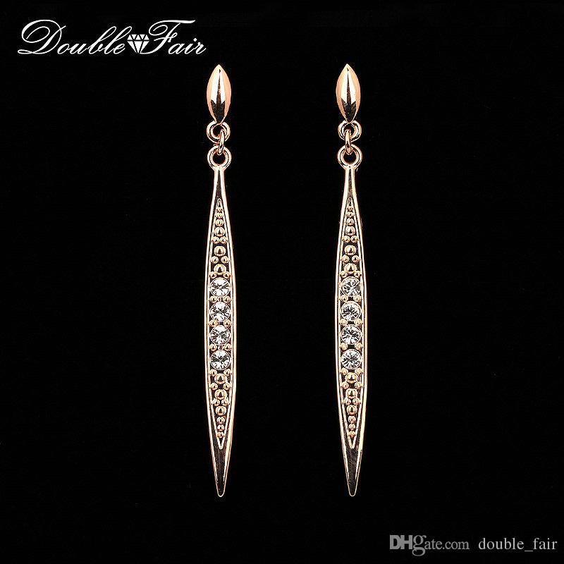 0f5ca8c490f2 Compre Vintage Cz Diamond Stud Earrings Wholesale 18k Oro   Platinum Plateó  La Boda Cristalina De La Manera Venta Caliente De La Joyería Para Las  Mujeres ...