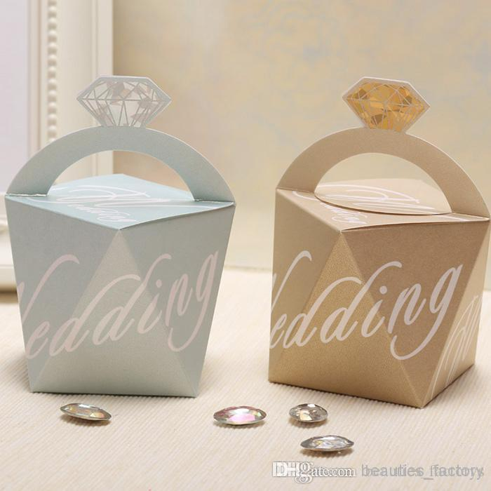 Diamond Shaped Candy Boxes Wedding Favors Gift Box Birthday Party