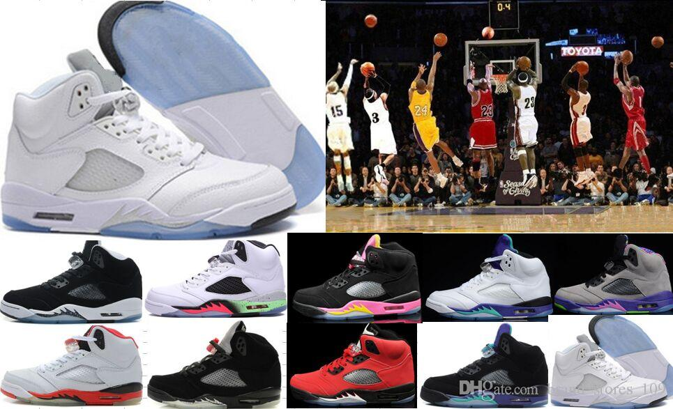 aa73b0bf9967 Wholesale 5s Basketball Shoes Hot Sale Red Suede CDP White Cement Sneakers  High Quality Oreo 5 Trainers Athletics Shoes 4 6 7 8 9 10 11 12 4e  Basketball ...