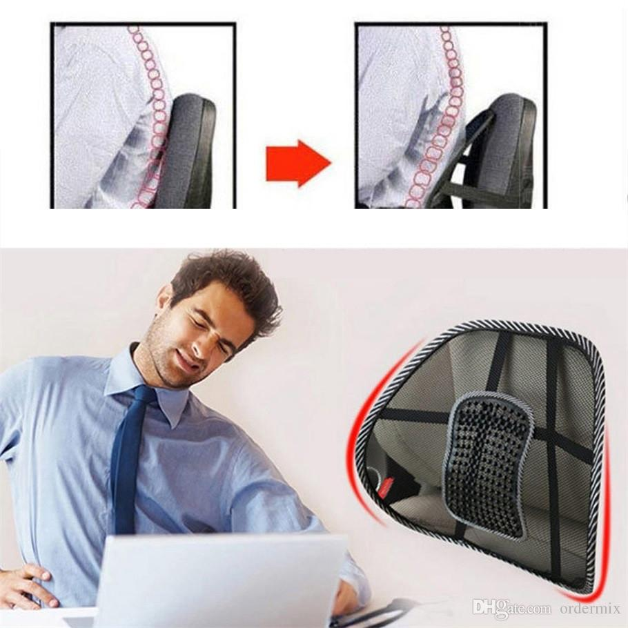 편안한 메쉬 의자 구호 요추 허리 통증 지원 자동차 쿠션 오피스 좌석 의자 검은 요추 쿠션