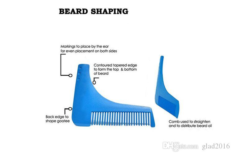 2017 Hot Pente Barba Bro Shaping Pincel De Barba Homem Sexy Cavalheiro Barba Guarnição Modelo de Corte De Cabelo Moldagem Guarnição Modelo Barba Modelagem ferramentas