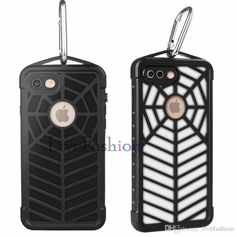 Spinnen-Telefon-Kästen lokalisierter Schmutz und Staub wasserdichtes langlebiges Gut für militärischen Gebrauch Fall-Abdeckung Spinnen-Muster-Handy-Fälle für Iphone 7 7 Plus