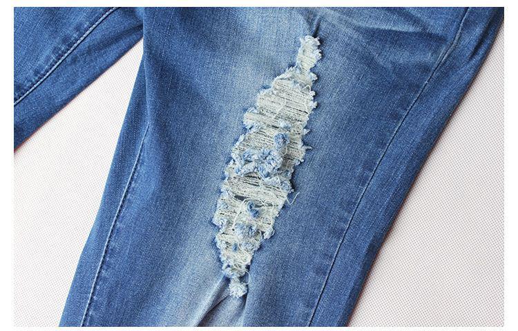 Femmes déchirée Jeans Boyfriend Denim pour Womens Plus Taille Taille haute Taille High Hole Leggings Skinny Slim Fitness Pantalon Femme Pantalon Femme