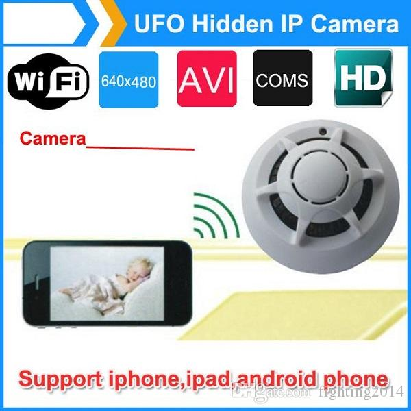 Smoke Detector DVR P2P WIFI MINi IP camera UFO wireless surveillance Live view Home security Camera Nanny Cam for smartphone PC