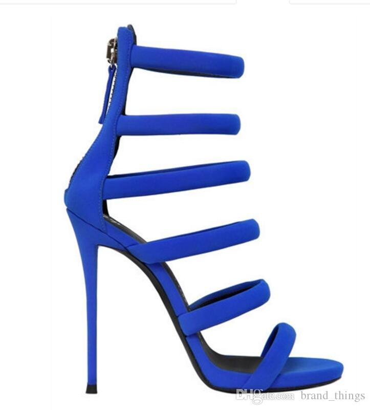 2017 fashion women high heels ankle strap gladiator sandals party women shoes navy blue thin heel wedding shoes dress sandal