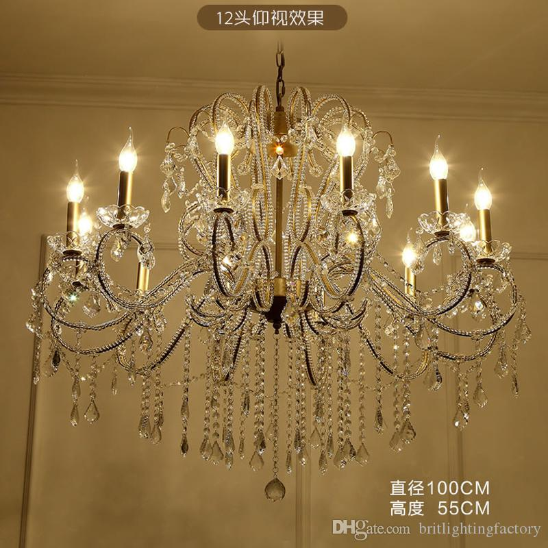 European Style Chandeliers Living Room Lamps Candles Lights Modern Dining Bedroom American Crystal Pendant Hotel Designer