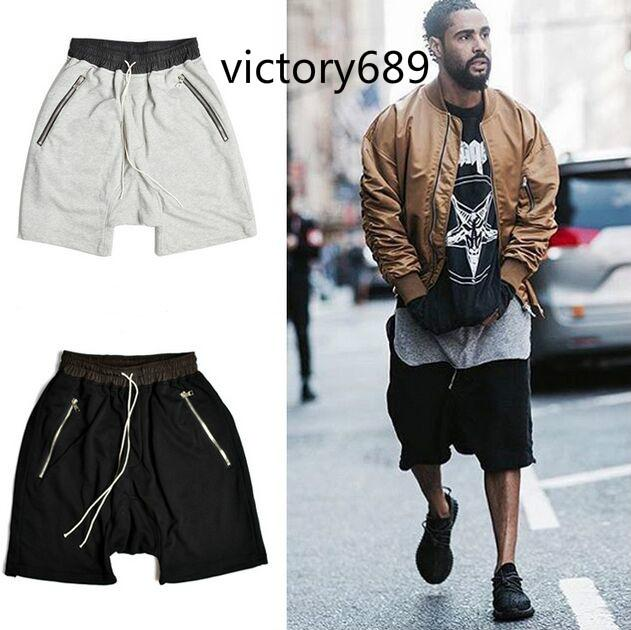 Men's Clothing Fashion Europe And American Hip Hop Shorts Men Skateboard Hip Hop High Street Dance Shorts Male Kanye West Haren Justin Bieber