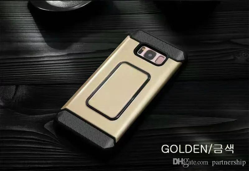 For iphone 6 6S 7 Plus 5 5S SE Rubber Dual Layer Shockproof Hard Case For Samsung Galaxy S8 edge G530 Grand Prime Phone Case