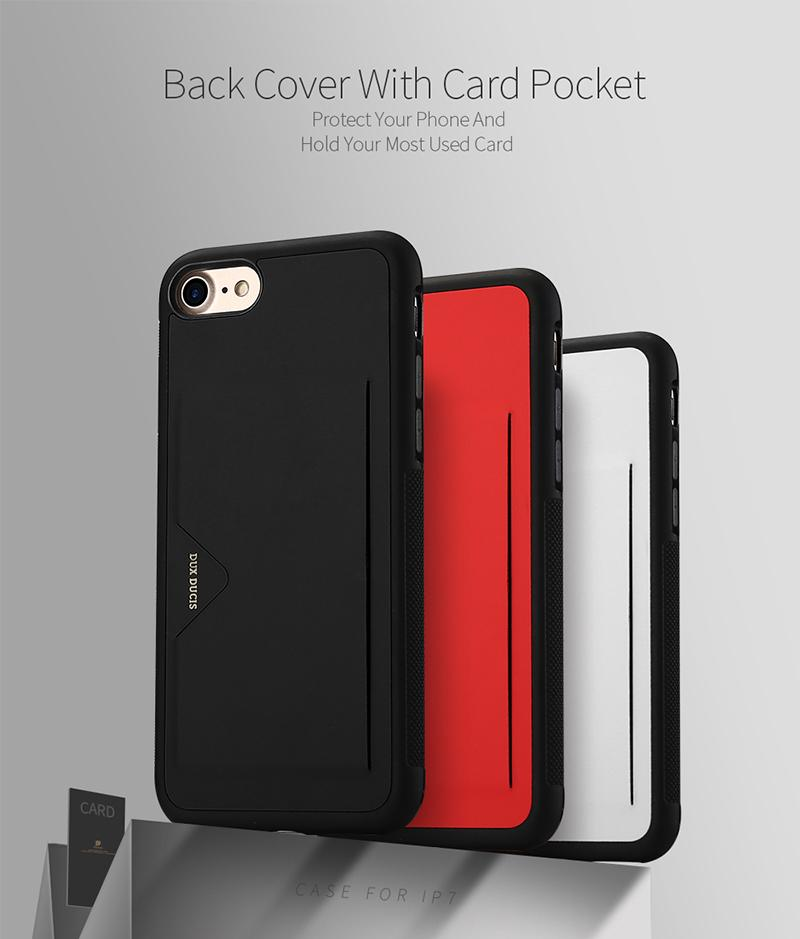 size 40 bc240 1207e Dux Ducis Case For Iphone 7 7 6plus Card Case Ultra Slim Credit Card Slots  Id Holder Protection Cover For Iphone 6 6s 7
