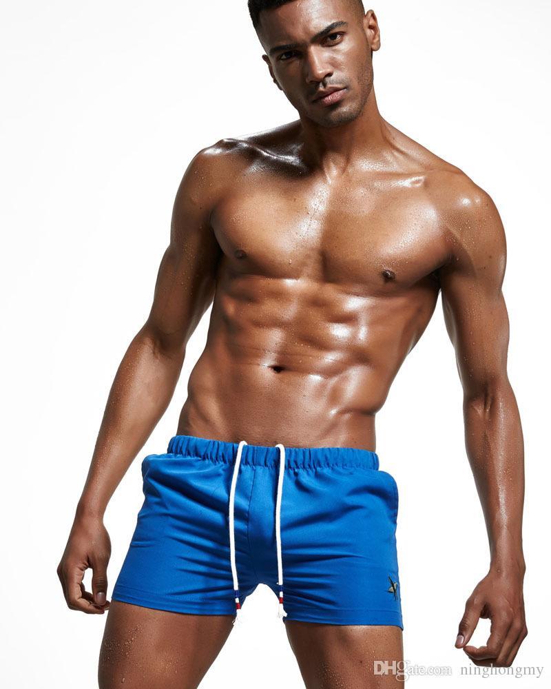 Sexy marca dos homens dos homens Beachwear Swimwear Início Shorts Praia Verão Trunk Board Shorts lazer moda sexy sunga boxer tamanho M, L, XL, XXL