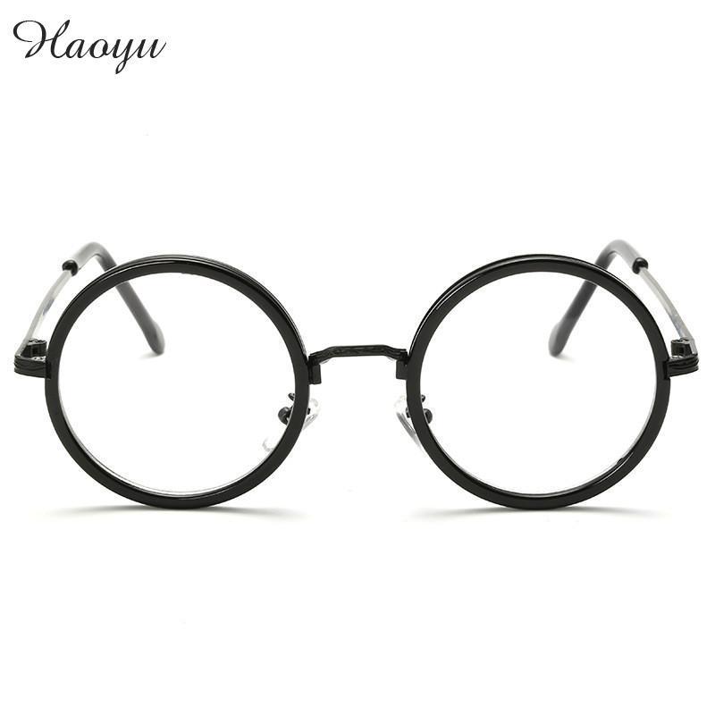 2018 Wholesale Haoyu 2016 Vintage Round Optical Frame Eye Glasses ...