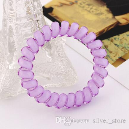 Brand new Candy color hair circle jelly large phone line tie hair rope rubber band head flower FQ047 a