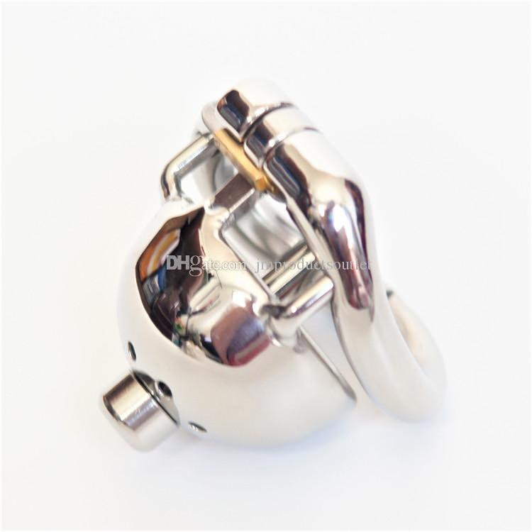 40mm Super short metal cock cage with urethral sounds 304# stainless steel small male chastity cage new chastity devices for men