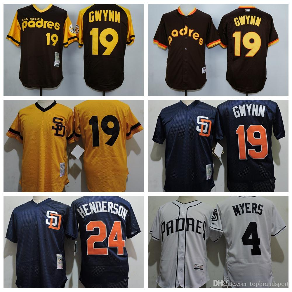 official photos b8b8d 4cba3 sweden mlb jerseys san diego padres 19 tony gwynn white ...