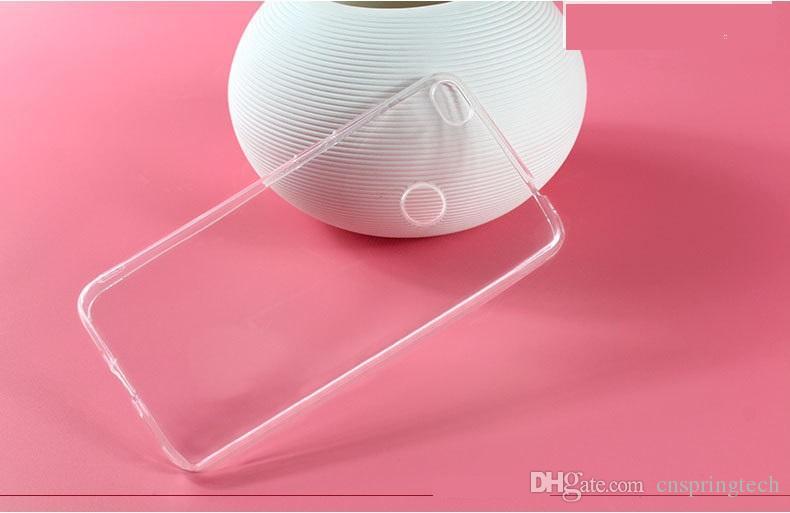 Mais barato! Caso do telefone para huawei p10 p8 p9 lite max p7 companheiro 7 honor 7 6 plus transparente tpu gel telefone macio voltar case capa