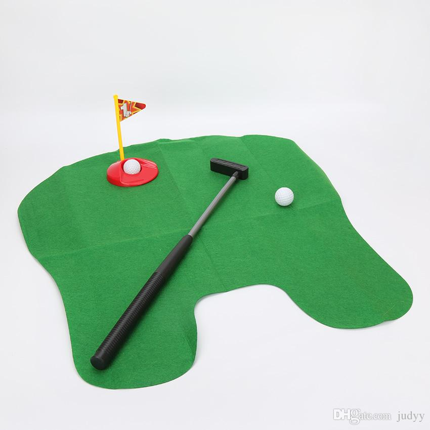 Mini Banyo Tuvalet Golf Mat Topları Avid Golfçüler için Mükemmel bir Koyarak Oyunu koymak Lazımlık Atıcı Golf Eğitmeni Eğlenceli Oyun Dekompresyon Oyuncak