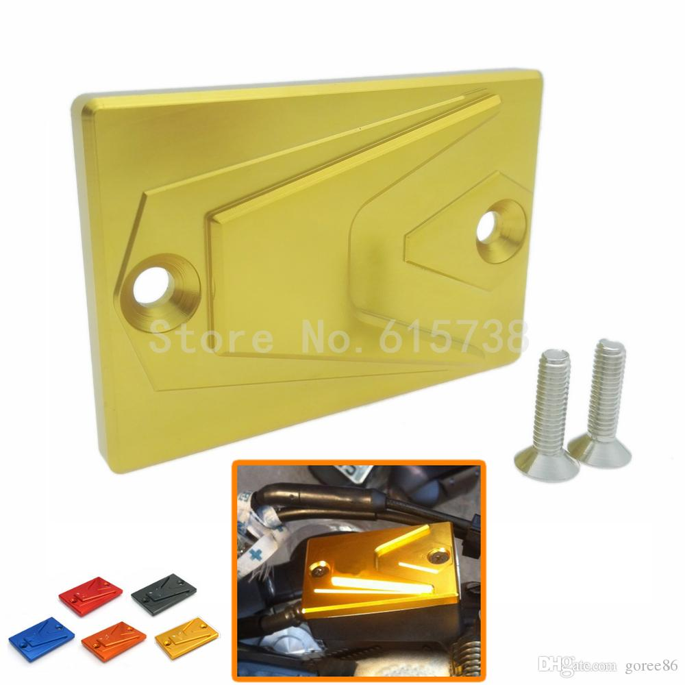 New Motorbike CNC Aluminum Front Brake Fluid Reservoir Cap For Yamaha MT 07 MT 09 XJ6N XJ6F FZ8S FZ8 in Gold Color