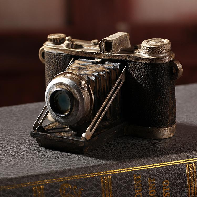 2018 Shabby Chic Camera Vintage Home Decor Resin Crafts Home ...