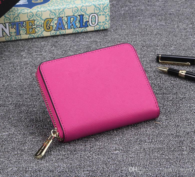 High Qaulity Burse Women Notecase Fashion Purses Real Leather Zippers Wallets Cross Pattern Brand Designer Letters Handbags Cards Holders