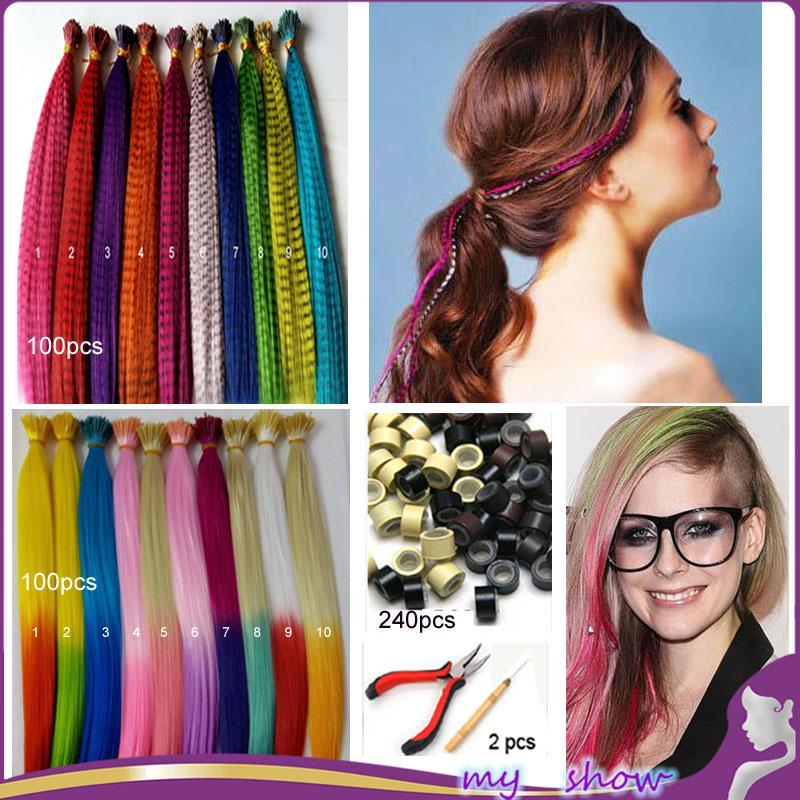 Wholesale 100 Mix Color Ombre I Tip Hair Extensions 2 Tones Loop