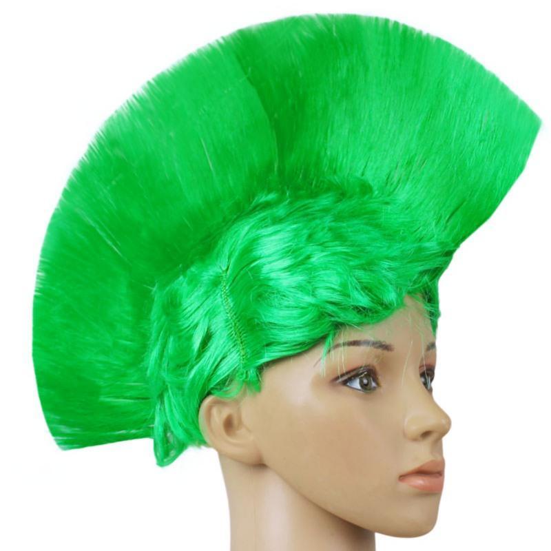 Rainbow Mohawk Hair Wig Rooster Fancy Costume Punk Rock Halloween Party Decor