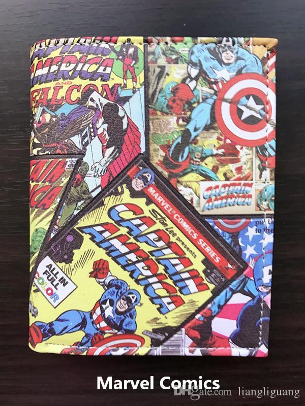 Marvel Avenger Student portefeuille court anime Q Ver. Bourse d'étudiant