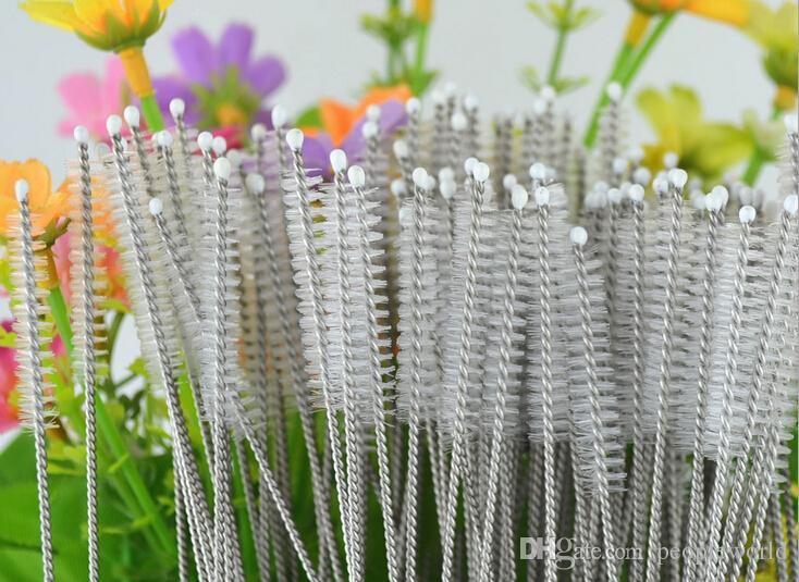 Sıcak satış 1000 adet / grup paslanmaz çelik tel temizleme fırçası çörek temizleme fırçası şişeleri fırça Ücretsiz kargo