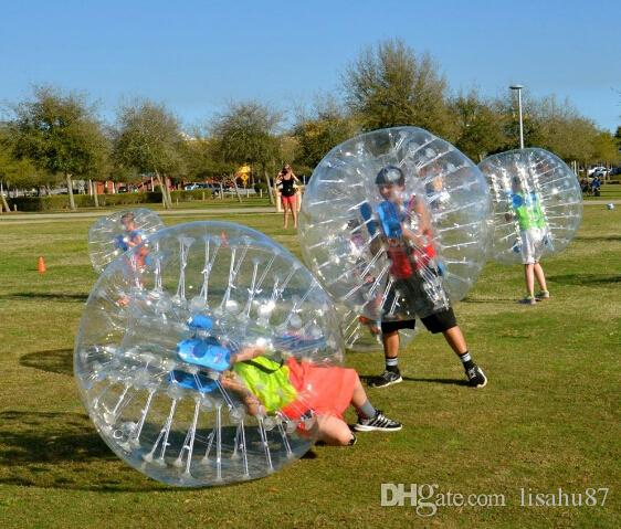 1.5m 0.8mm Inflatable Clear Human Hamster Bal Soccer Bubble Ball Bumper Ball Zorb Ball For Football