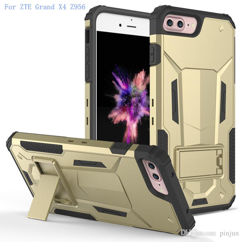 For ZTE Grand X4 Z956 X Max 2 Z988 Z963U Mars Armor Hybrid Kickstand Combo Case 2in1 With Shockproof Back cover OPP Package