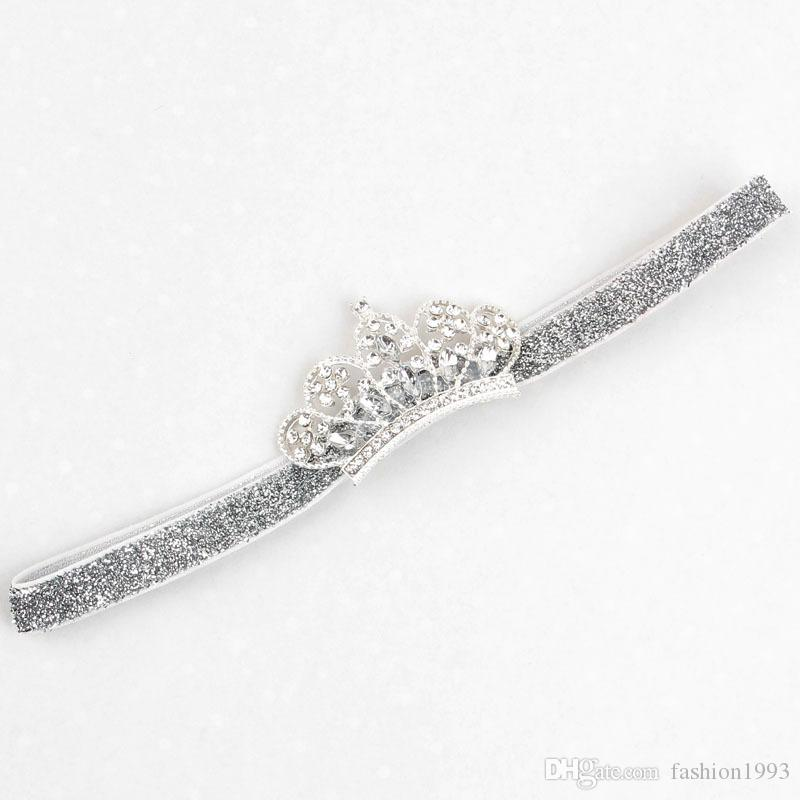 2017 New Baby headdress Crystal Crown Children's Hair Bands Fashion Hair Accessories For Baby Infant Girls Shine Diamond Crown Headbands