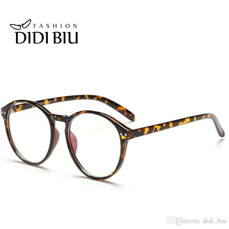 95650b583c 2019 DIDI Round Plastic Leopard Glasses Frame Vintage Spectacle Frames For Women  Men Accessories Eyewear Frames Lunette De Vue H144 From Didi biu