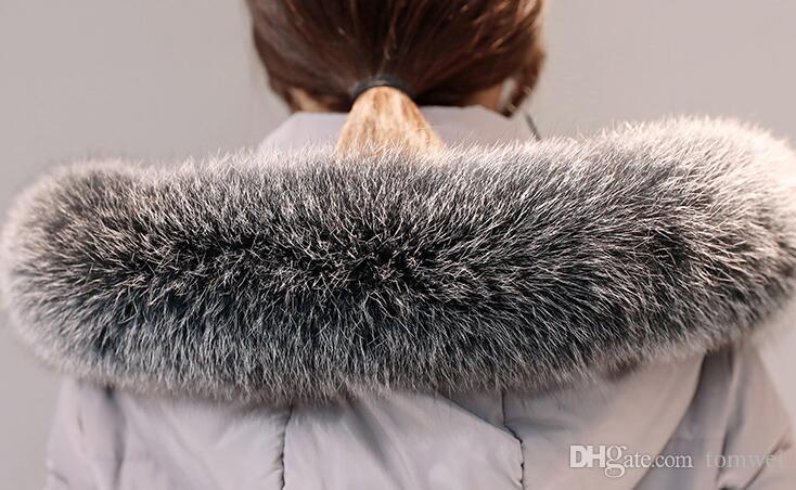 Lange Daunenjacke Frauen Winter Mäntel Natürliche Fuchspelzkragen Weiße Ente Parkas Mit Kapuze Verdicken Warme Schnee Kleidung Neue Ankunft