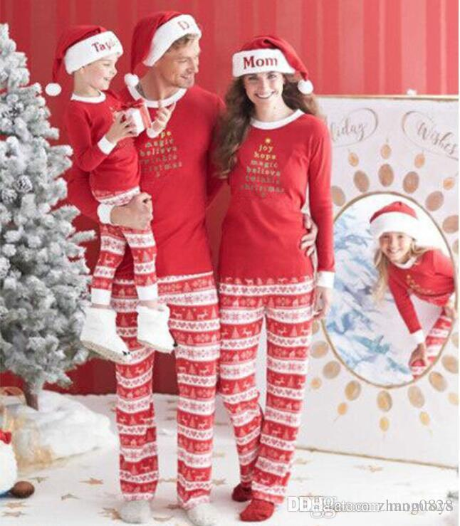 2017 hot Christmas paternity loaded siblings printed parent-child suit Role  play props 10pcs