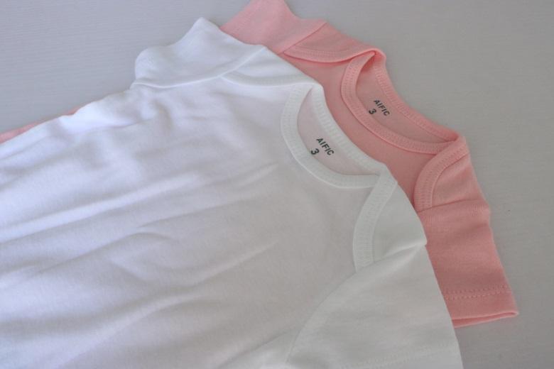 AIFIC Baby-Säuglings-Strampler Anzug Dreieck-Spielanzug Onesies aus 100% Baumwolle Kurzarm Babys Kleidung Junge Mädchen 4 Farbe