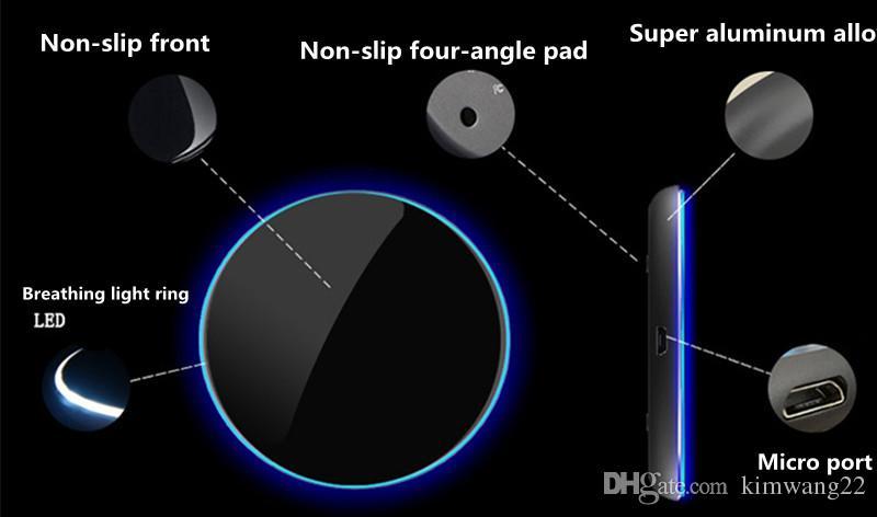 Caricatore wireless qi wireless ultra sottile Samsung s8 plus iphone x 8 e altre marche di telefoni cellulari