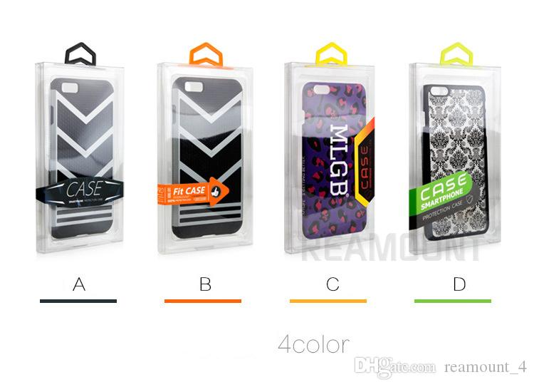 Großhandelskundenspezifisches Logo-transparenter PVC-Verpackenkasten für Telefon-Kasten für iPhone 7 7 Plus-KleinPlastikkristallklares Paket-Verpackung