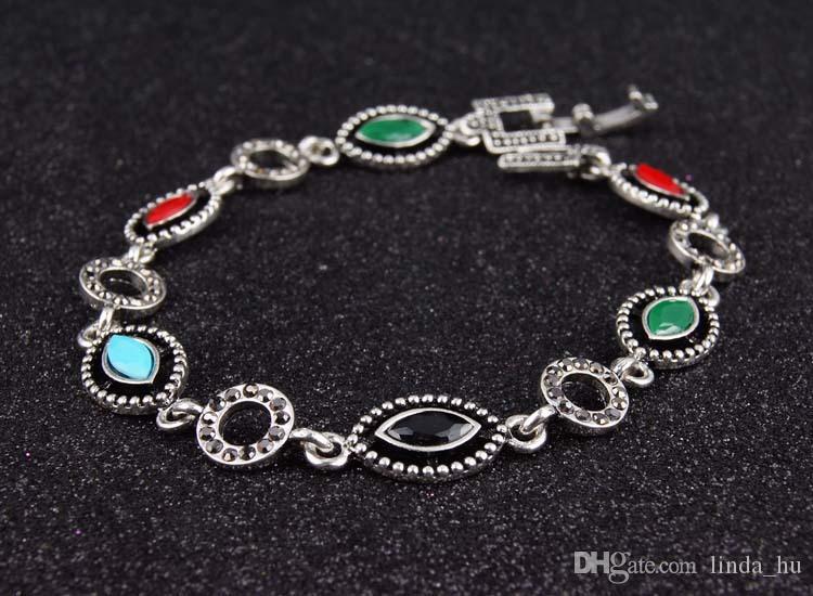 Führen Sie Flüsse und Seen, um das Angebot des heißen Silber überzogenen Tropfenarmbanddiamantarmbanddiamanten-Armband-schnellen Verkaufs zu verbreiten