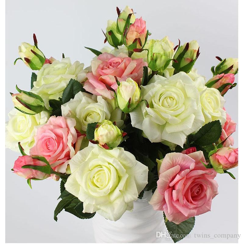 Homewedding Decoration Flowers Two Headed Real Touch Quality