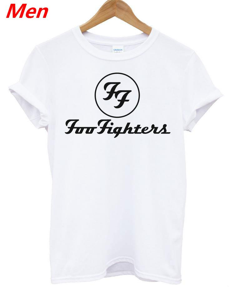 242cc88b393 Wholesale Foo Fighters Print Men T Shirt Casual Funny Shirt For Man Black  White Top Tee Funny Hipster Rock Band Drop Ship BZ203 32 Cool Tee Funny  Graphic T ...