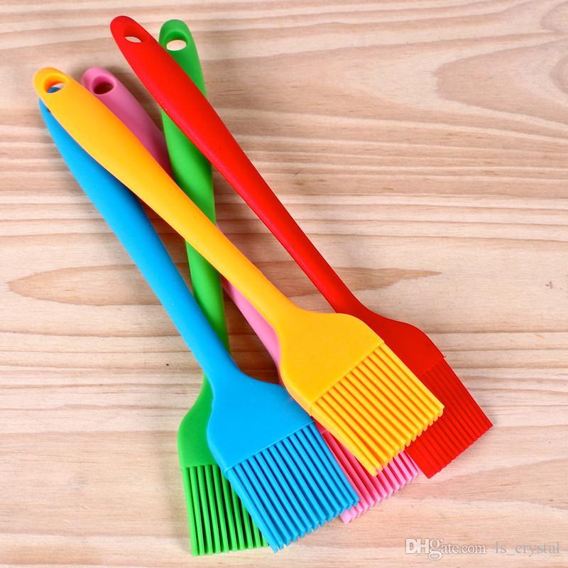 Şeker Renk 8 inç Silikon Basting Pasta Fırça Yağı Basting Fırça Barbekü Gereçler Kek 10 adet / grup DEC232