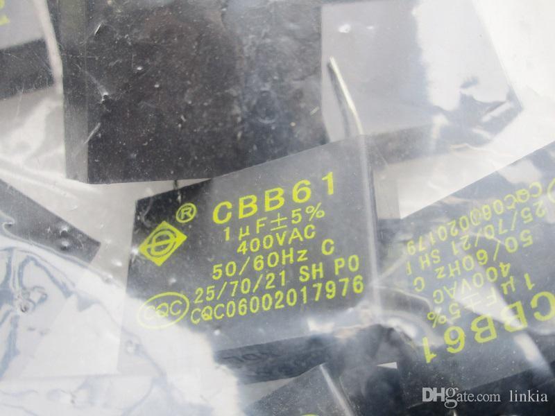 CBB61 400V 1UF 450v 에어컨 팬 핀 커패시터 마더 보드 커패시터 용량 1.0uf 450v